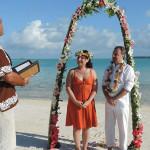 il matrimonio alle isole cook di mister wedding con la moglie barbara